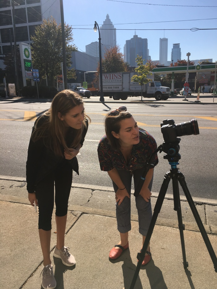 Laura Asherman works alongsidestudents